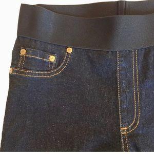 NWT Karen Kane crop jeans/leggings, elastic waist
